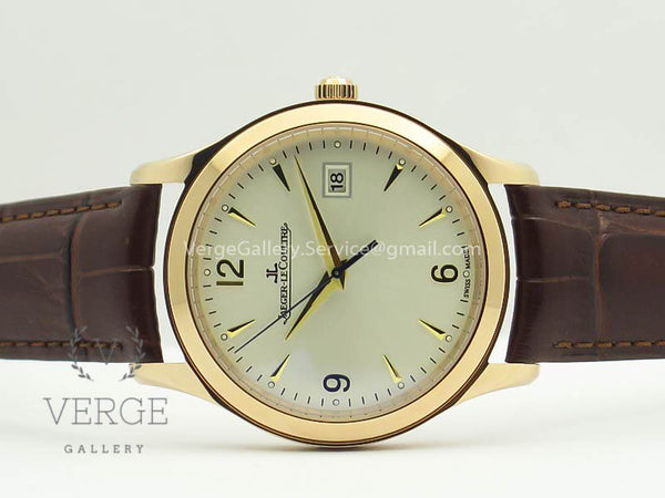 MASTER GRANDE ULTRA THIN 1548420 RG WHITE DIAL ON BROWN LEATHER STRAP ZF