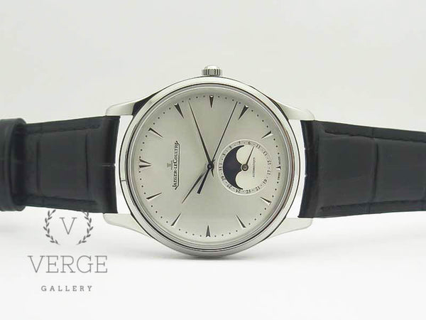 MASTER ULTRA THIN MOON SS SILVER DIAL ON BLACK LEATHER STRAP ZF