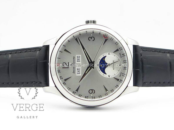 MASTER ULTRA THIN MOONPHASE SS SILVER DIAL ON LEATHER STRAP KMF