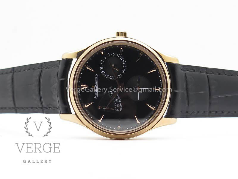 MASTER ULTRA THIN RESERVE DE MARCHE RG BLACK DIAL ON BLACK LEATHER STRAP 3AF
