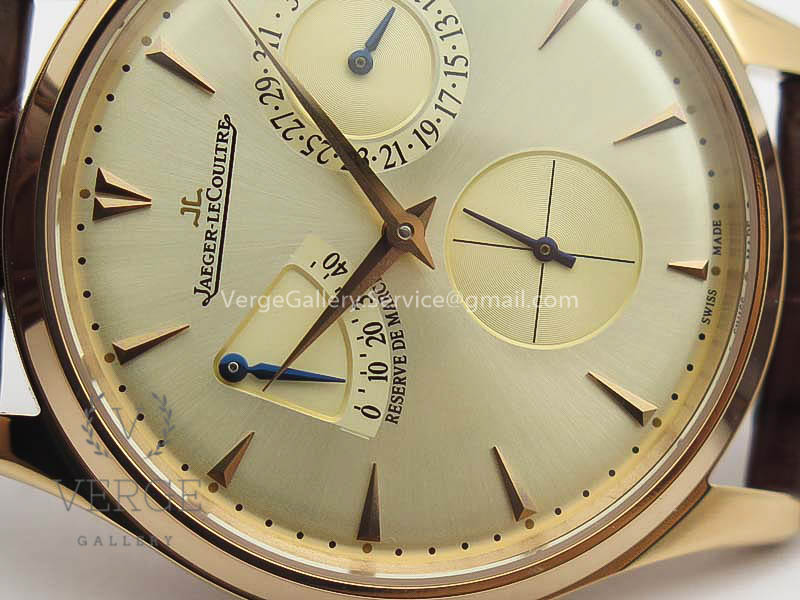 MASTER ULTRA THIN RESERVE DE MARCHE RG GOLD DIAL ON CROC LEATHER STRAP 3AF