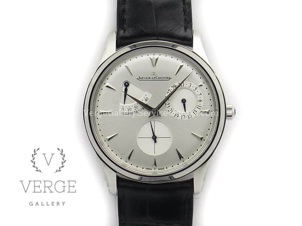 MASTER ULTRA THIN RESERVE DE MARCHE SS WHITE DIAL ON BLACK LEATHER STRAP 3AF