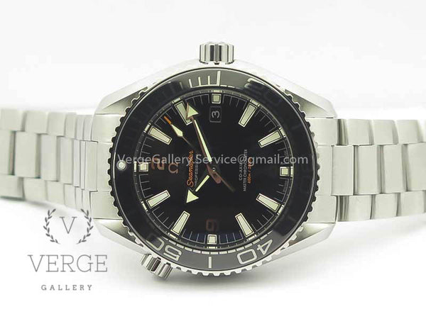 PLANET OCEAN 2016 43.5MM SS BLACK BEZEL BLACK DIAL ON SS BRACELET OMF V2