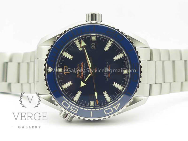 PLANET OCEAN 2016 43.5MM SS BLUE BEZEL BLUE DIAL ON SS BRACELET OMF V2