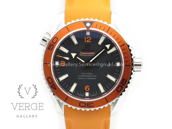PLANET OCEAN PRO ORANGE BEZEL 45MM ON RUBBER STRAP OMF