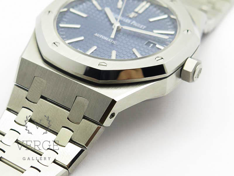 ROYAL OAK 41MM 15400 SS BLUE TEXTURED DIAL ON SS BRACELET V3 JF