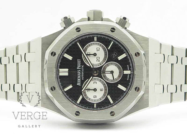 ROYAL OAK CHRONO 26331ST SS BLACK/WHITE DIAL ON SS BRACELET OMF