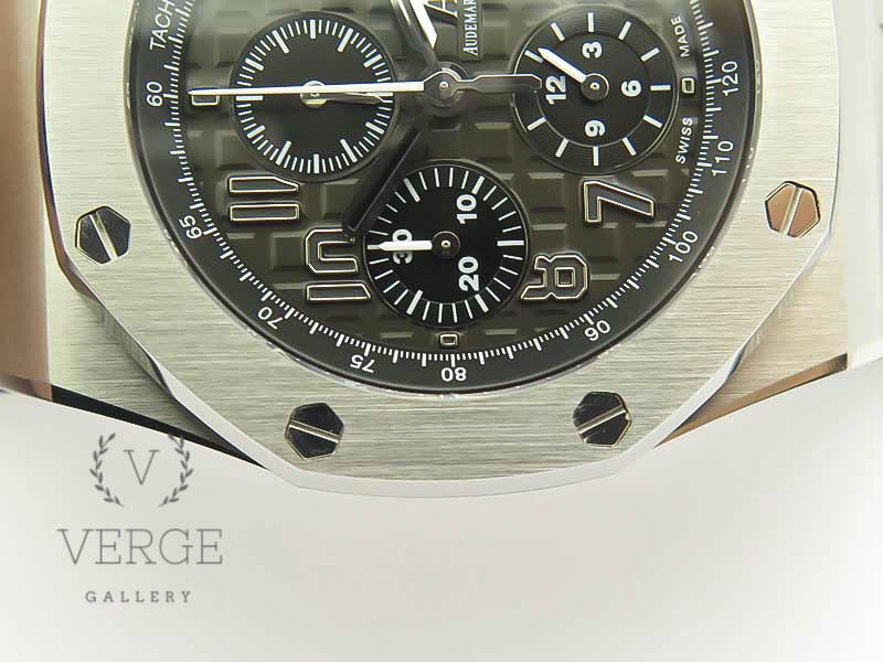 ROYAL OAK OFFSHORE 2014 GRAY THEME ON GRAY LEATHER STRAP V2 W/CYCLOPS AND DW MOD JF