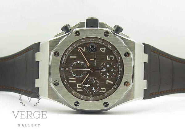 "ROYAL OAK OFFSHORE 2018 SIHH ""HAVANA"" BROWN DIAL ON BROWN LEATHER STRAP W/ CYCLOPS JF"