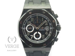 "ROYAL OAK OFFSHORE ""GINZA 7"" FORGED CARBON ON RUBBER STRAP W/ CYCLOPS V2 JF"