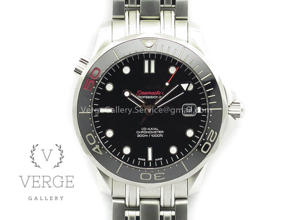 SEAMASTER 300M 007 50TH SS 007 DIAL CERAMIC BEZEL ON SS BRACELET OMF