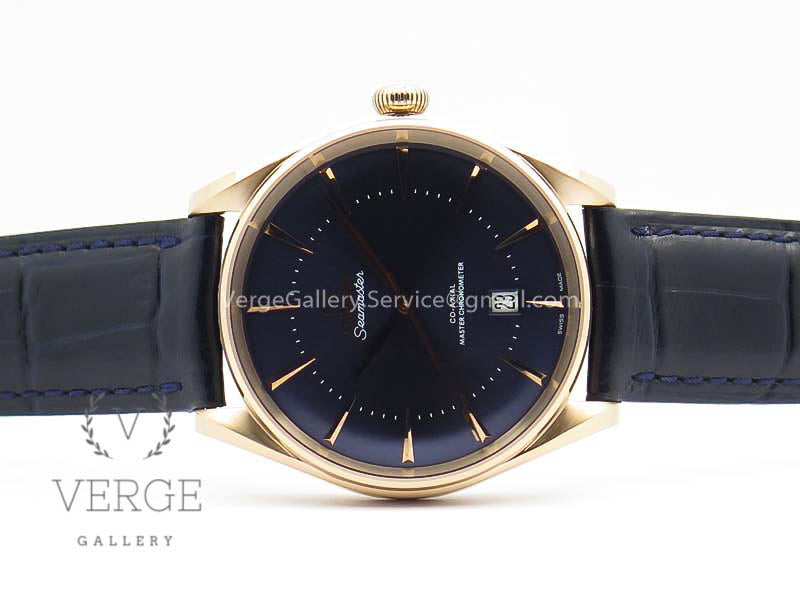 SEAMASTER EDIZIONE VENEZIA RG BLUE DIAL ON LEATHER STRAP