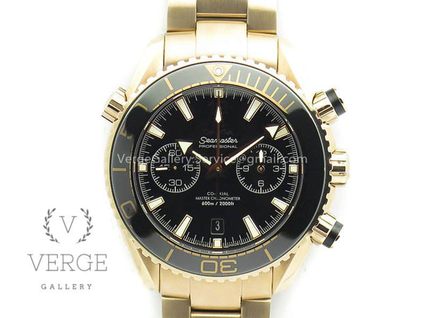 SEAMASTER PRO CHRONO RG BLACK CERAMIC BLACK DIAL ON RG BRACELET