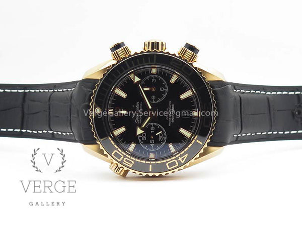 SEAMASTER PRO CHRONO RG BLACK CERAMIC BLACK DIAL ON GUMMY STRAP