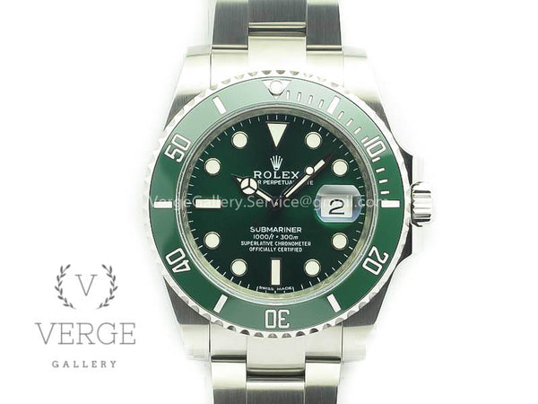 SUBMARINER 116610 LV GREEN CERAMIC 904L SS CASE AND BRACELET V9 NOOB