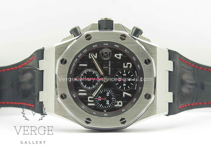 ROYAL OAK OFFSHORE 2014 BLACK THEME ON BLACK LEATHER STRAP W/CYCLOPS AND DW MOD V2 JF