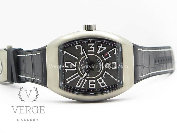 VANGUARD V45 TI BLACK DIAL ON BLACK LEATHER STRAP TF