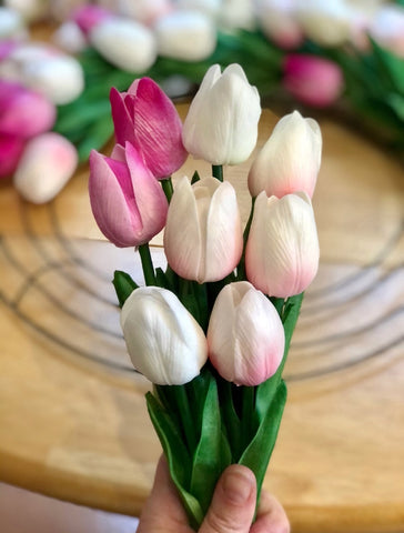 Artificial tulips florals for less