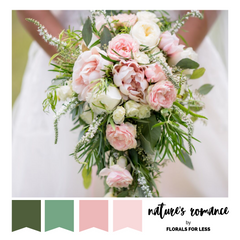 soft pink and green wedding colour palette
