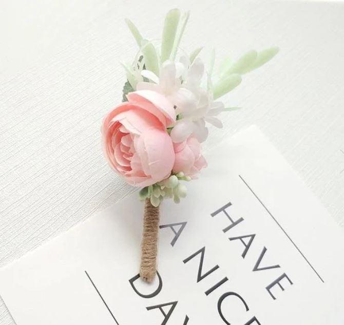 blush artificial boutonniere delivery canada