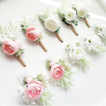 Classic Soft BoutonnieresFlorals For Less cheap artificial fake flowers online