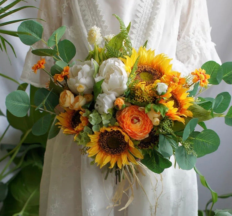 Sunflower Surprise Bridal Bouquet Package