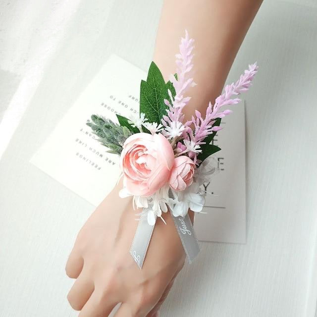 Classic Soft BoutonnieresCorsage C - PinkFlorals For Less cheap artificial fake flowers online