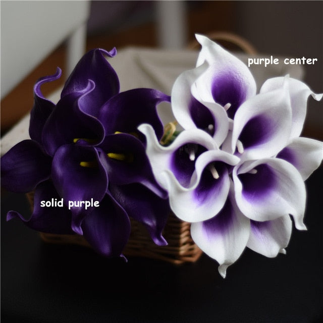 Artificial Calla Lily BouquetSolid PurpleFlorals For Less cheap artificial fake flowers online