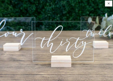 Elegant Wedding Modern Calligraphy Table Numbers with StandNumber 1-10Florals For Less cheap artificial fake flowers online