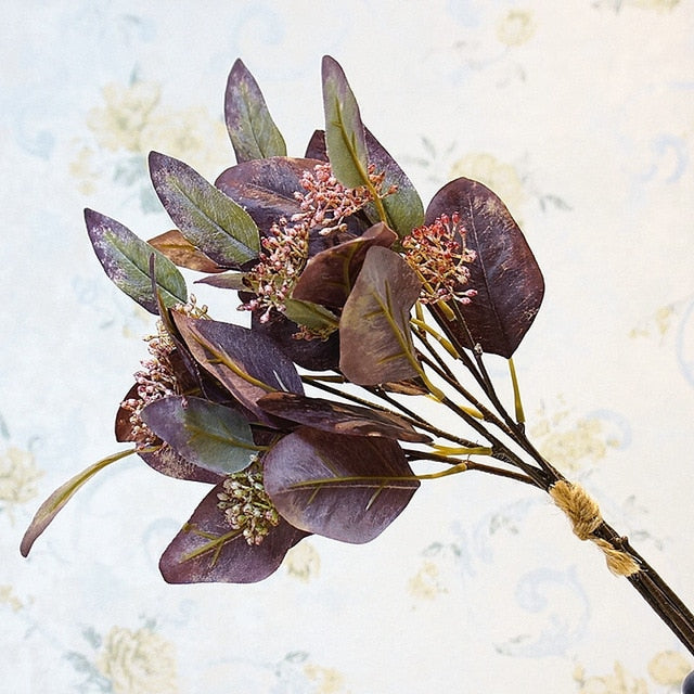 Seeded Eucalyptus BunchPurpleFlorals For Less cheap artificial fake flowers online