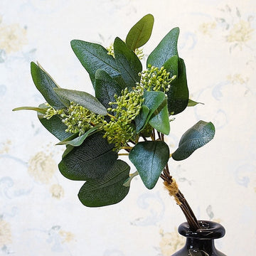 Seeded Eucalyptus BunchGreenFlorals For Less cheap artificial fake flowers online