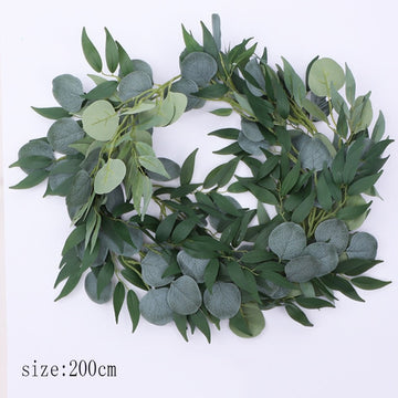 Mixed Foliage Eucalyptus Garland