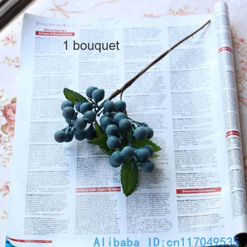 Artificial Berries SprayBlueFlorals For Less cheap artificial fake flowers online