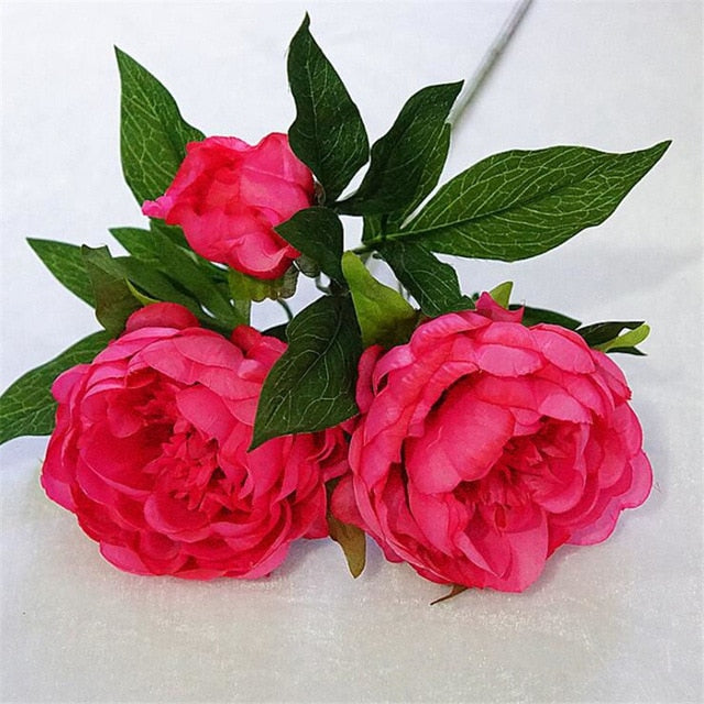 Silk Artificial Peony SprayRose PinkFlorals For Less cheap artificial fake flowers online