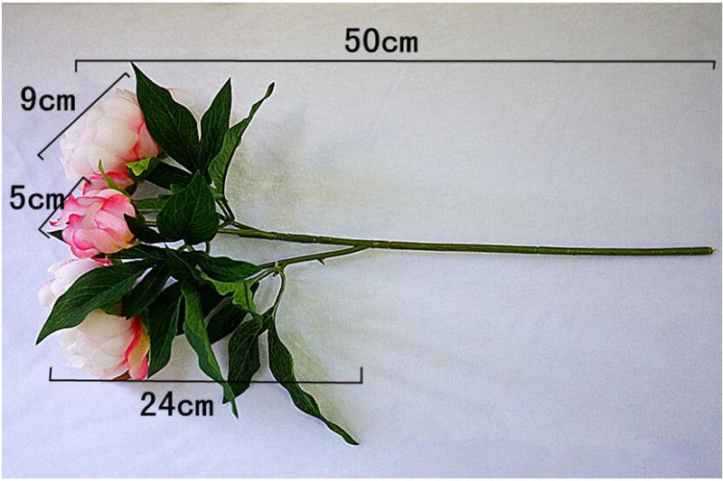 Silk Artificial Peony SprayFlorals For Less cheap artificial fake flowers online