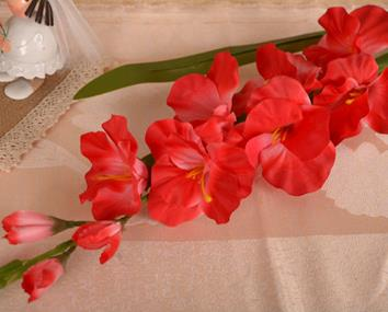 Artificial Gladiolus StemRedFlorals For Less cheap artificial fake flowers online