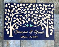 Personalized Wedding Guest Book AlternativeBlueFlorals For Less cheap artificial fake flowers online