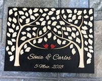 Personalized Wedding Guest Book AlternativeBlackFlorals For Less cheap artificial fake flowers online