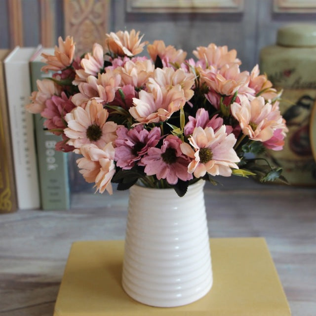 Artificial Daisy SprayBlush/BrownFlorals For Less cheap artificial fake flowers online