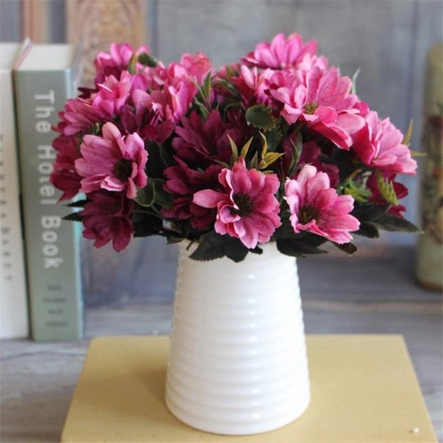 Artificial Daisy SprayPinkFlorals For Less cheap artificial fake flowers online