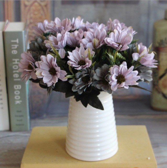 Artificial Daisy SprayPurpleFlorals For Less cheap artificial fake flowers online