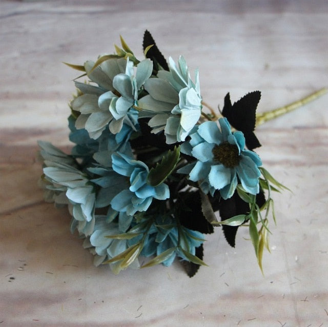 Artificial Daisy SprayBlueFlorals For Less cheap artificial fake flowers online