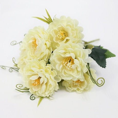 Small Chrysanthemum SprayWhiteFlorals For Less cheap artificial fake flowers online