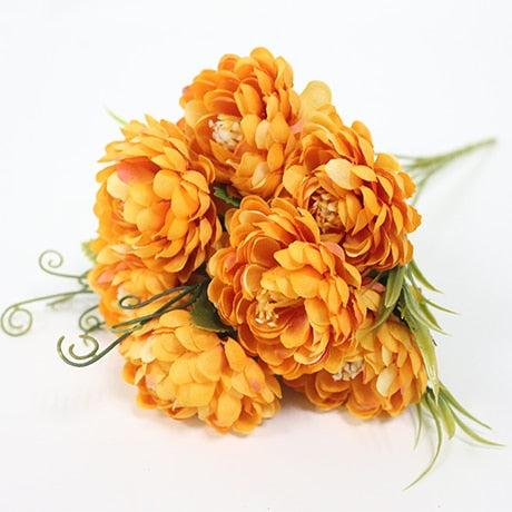 Small Chrysanthemum SprayOrangeFlorals For Less cheap artificial fake flowers online