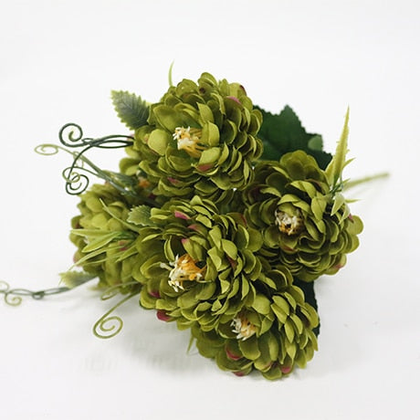 Small Chrysanthemum SprayGreenFlorals For Less cheap artificial fake flowers online