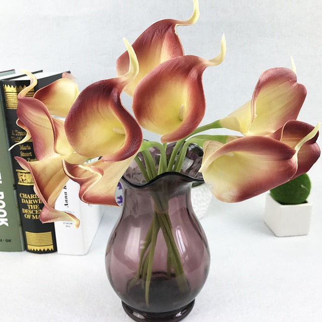 Artificial Calla LiliesYellow/PurpleFlorals For Less cheap artificial fake flowers online