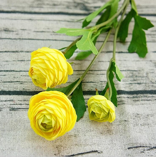 Artificial Ranunculus SprayYellowFlorals For Less cheap artificial fake flowers online