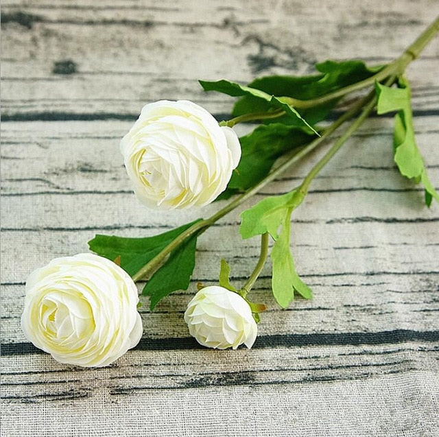 Artificial Ranunculus SprayWhiteFlorals For Less cheap artificial fake flowers online
