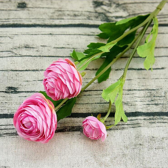 Artificial Ranunculus SprayDark PinkFlorals For Less cheap artificial fake flowers online