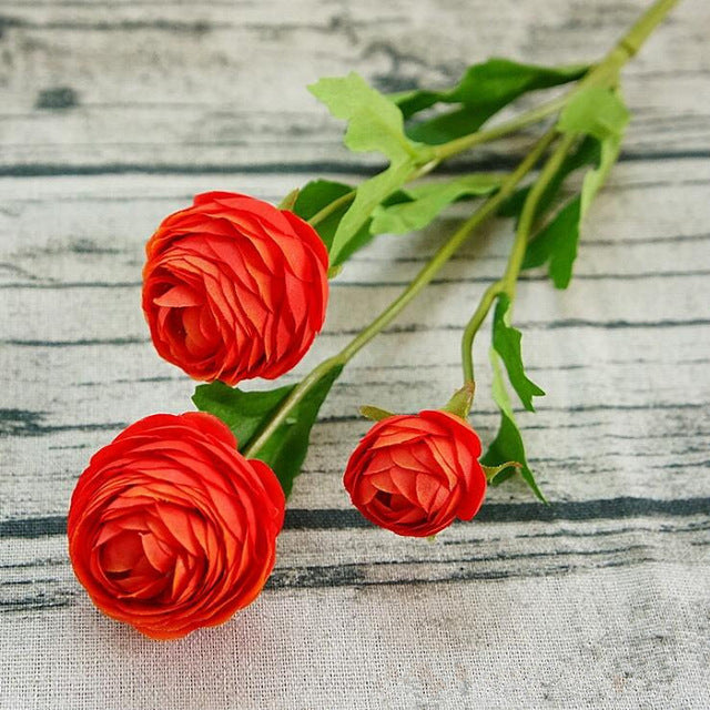 Artificial Ranunculus SprayRose RedFlorals For Less cheap artificial fake flowers online